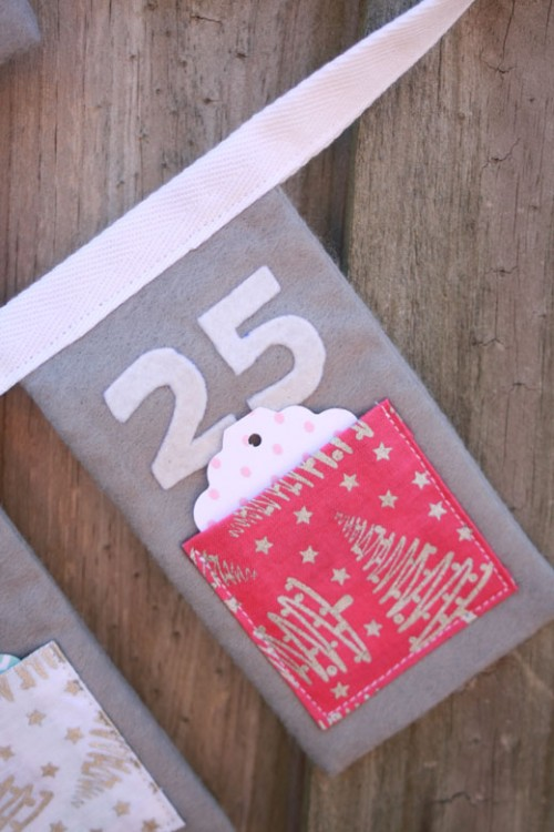 Diy christmas countdown advent bunting handmade Make your own christmas bunting