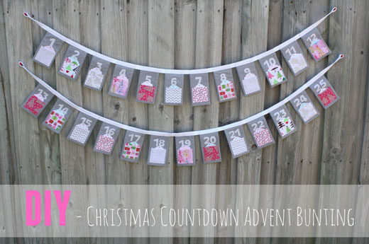 DIY CHRISTMAS COUNTDOWN ADVENT BUNTING