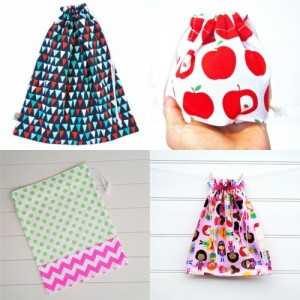 Back to School Drawstring Bags