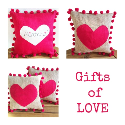 Gifts of Love - Heart Pillows