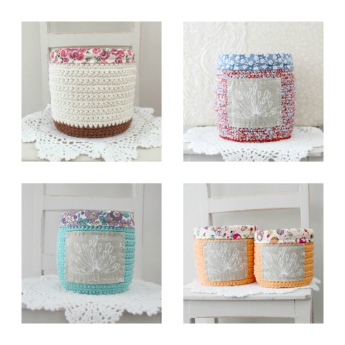 Hand-crocheted Baskets