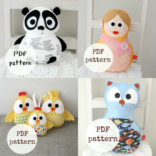 PDF Felt Toy sewing patterns
