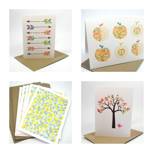 Range of Blank handmade cards