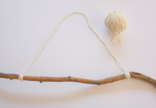 Step 6 - attach a string loop to your branch