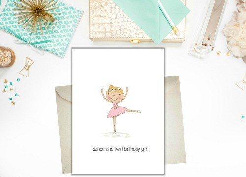 Birthday Card - Birthday ballerina