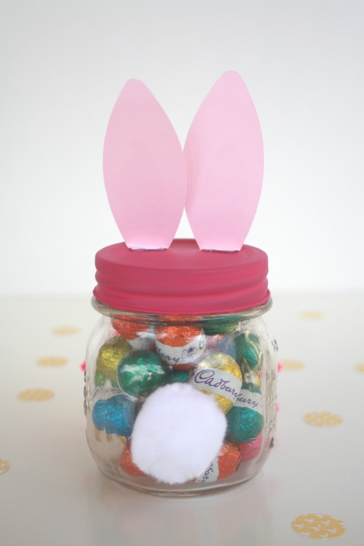 Make an easter bunny gift jar handmade kidshandmade kids easter bunny gift jar bunny tail negle Choice Image