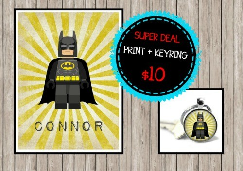Super Deal Batman Print and Keyring