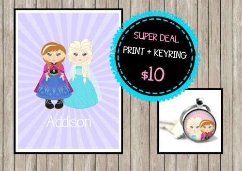 Super Deal Frozen Print and Keyring