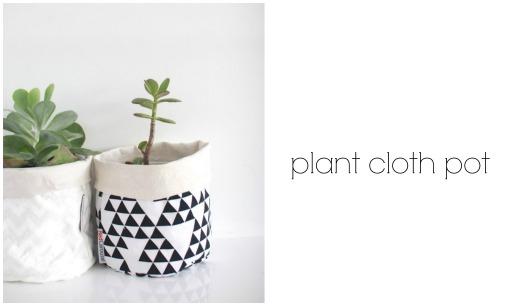 Monochrome Plant Cloth Pot