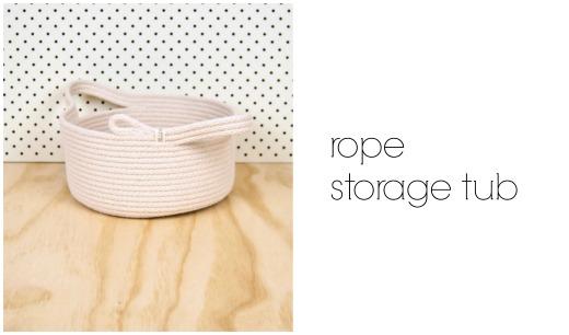 Rope Storage Tub