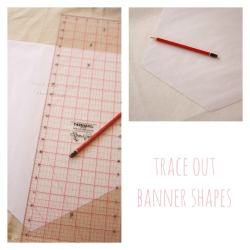 Trace banner shapes