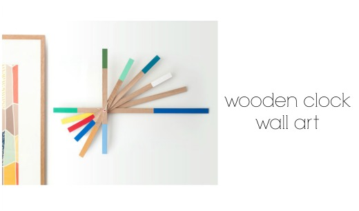 Wooden Clock wall art