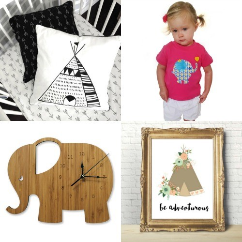 Fabulous Friday Finds - elephants and teepee's