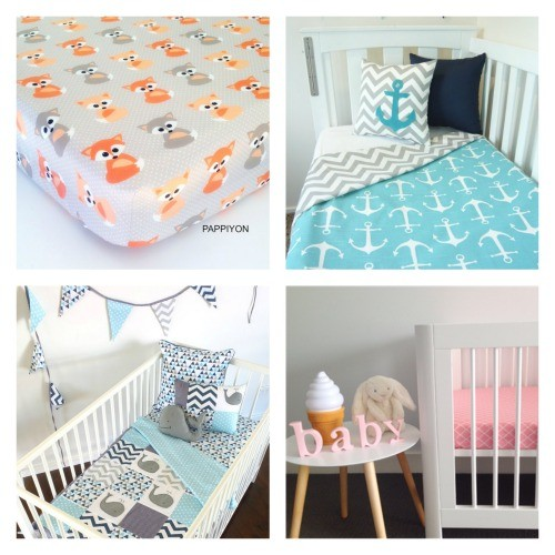 All about baby handmade decor finds for the nursery for Baby cot decoration images