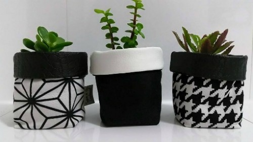 Monochrome Planter Pots