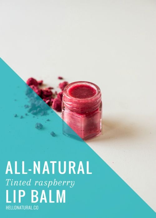 All Natural Tinted Raspberry Lip Balm