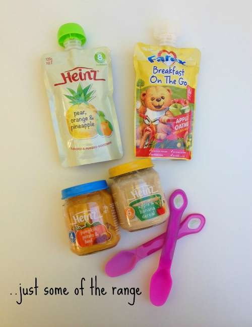 Just some of the Heinz Baby range