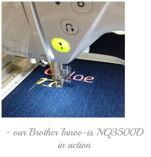 Brother Embroidery machine in action