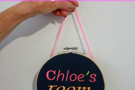 DIY - Make a Bedroom Door Sign Hoop