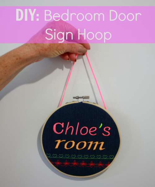 DIY - Bedroom Door Sign Hoop - Handmade KidsHandmade Kids