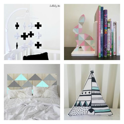 Fabulous Friday Finds - geometrics for a bedroom