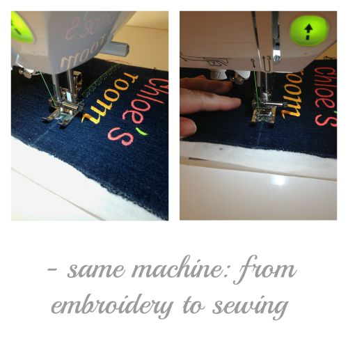 From embroidery to sewing