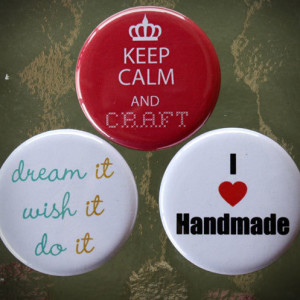 Love Handmade magnets