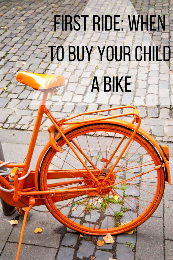 First Ride- When to Buy Your Child a Bike