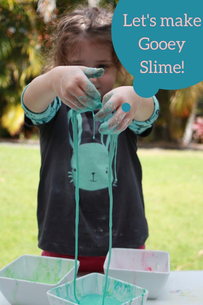 Lets make Gooey Slime Kids Craft