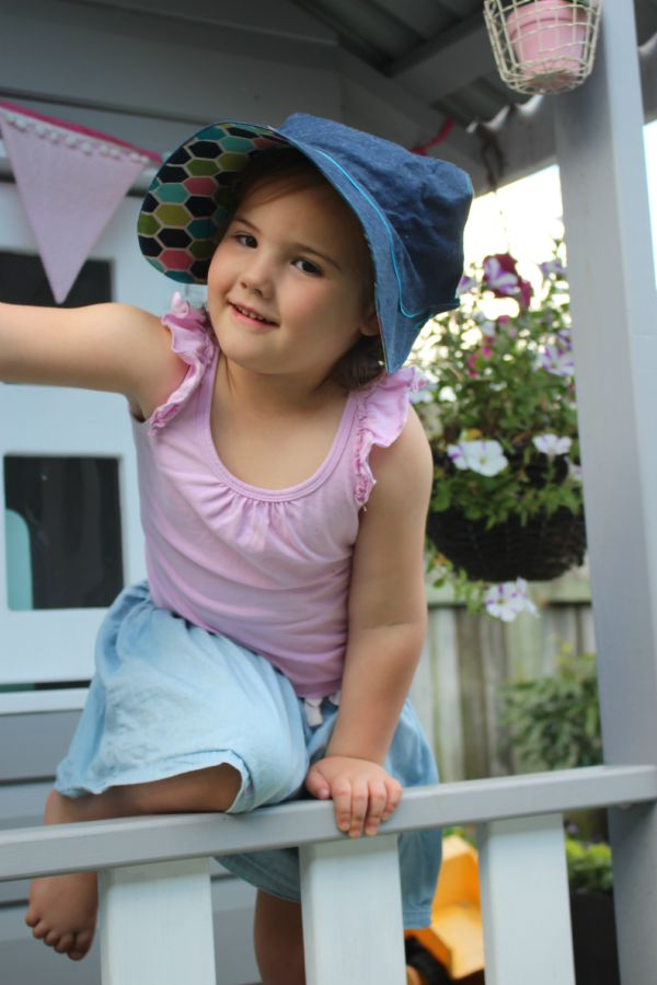 Sun Bonnet Review at Handmade Kids 3