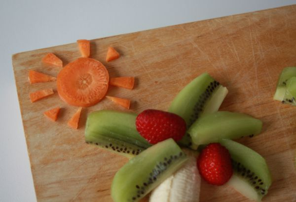 Tropical Palm Island fruit creation