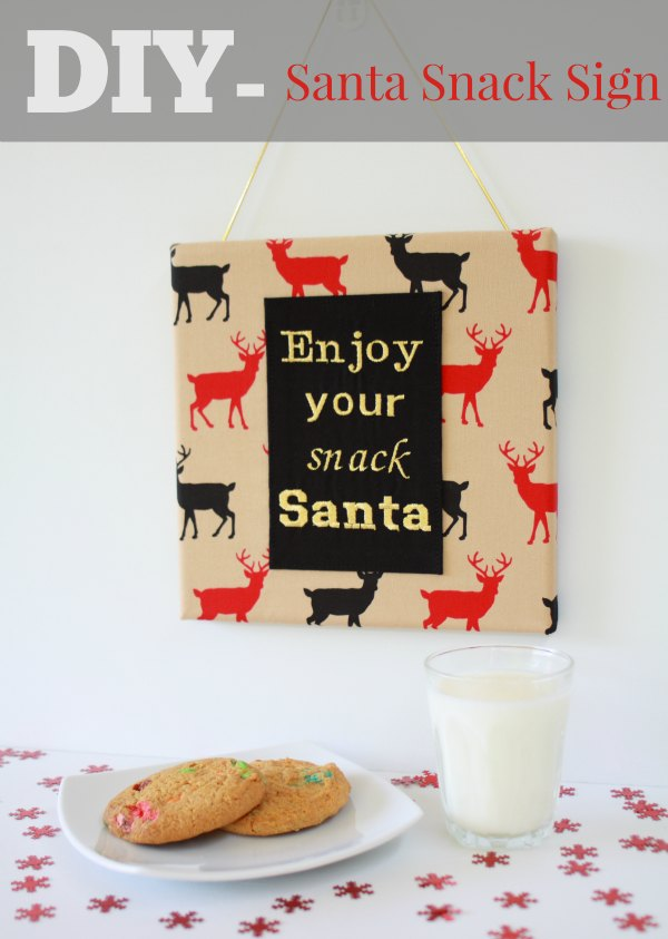 DIY Santa Snack Sign