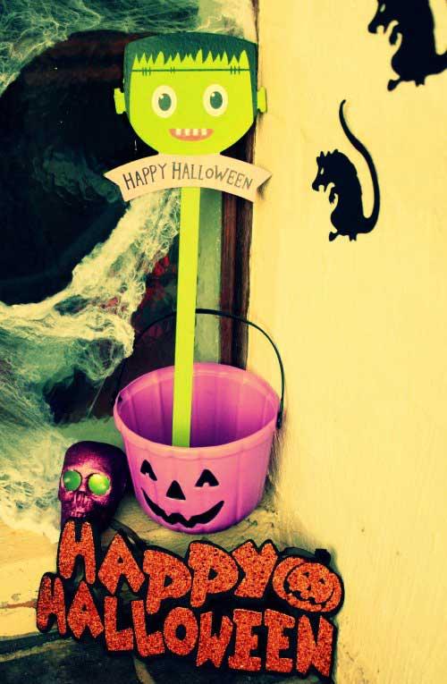 Make your front door spooky