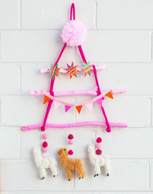 Hanging Christmas Tree by Hipster Mum