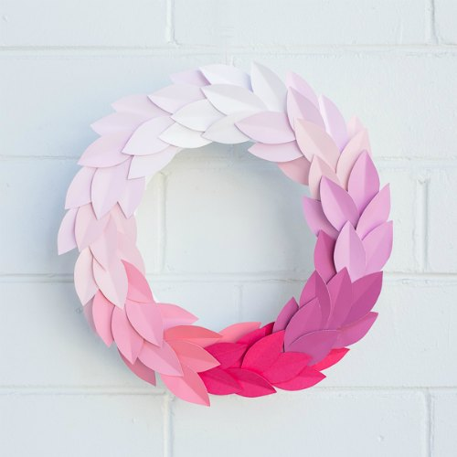 Paint Chip Wreath by Hipster Mum