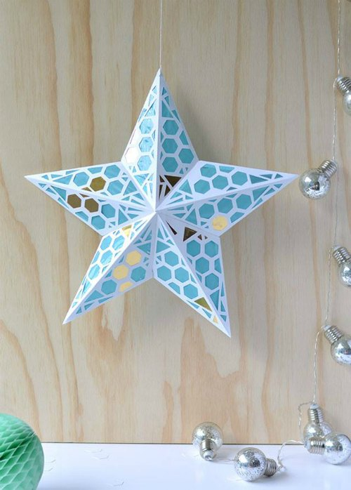 Paper Star Christmas lantern by Craft Hunter