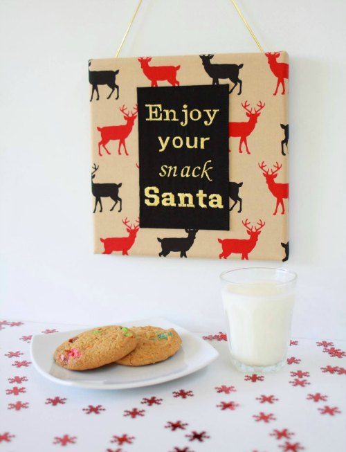 Santa Snack Sign by Handmade Kids