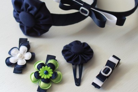 Back to School handmade hair accessories