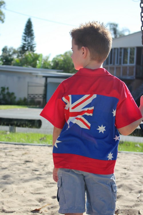 Boys Australia Day Shirt back view