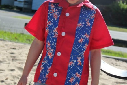 Boys Handmade Shirt for Australia Day