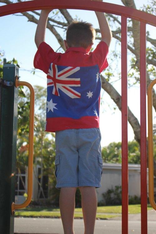 Boys handmade Australia Day Shirt