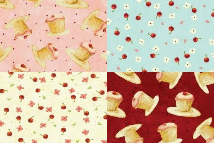 Fabric Finds Cupcakes and Cherries