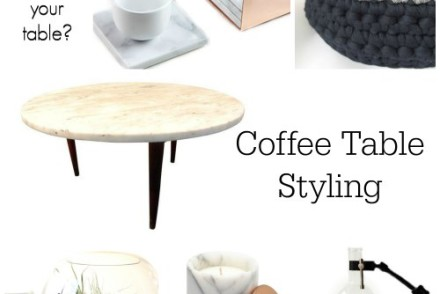 Coffee Table Styling with Chairish