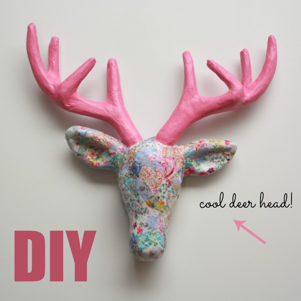 Decorate a Papier Mache Deer Head