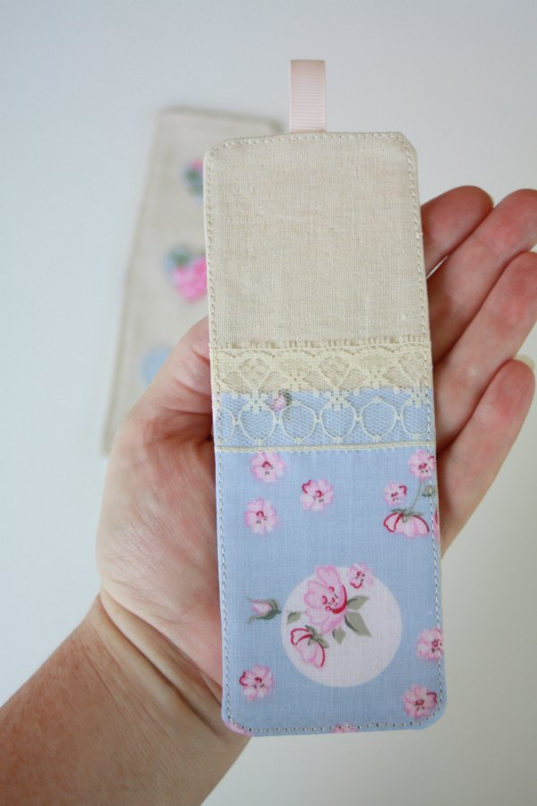 Sew a fabric bookmark
