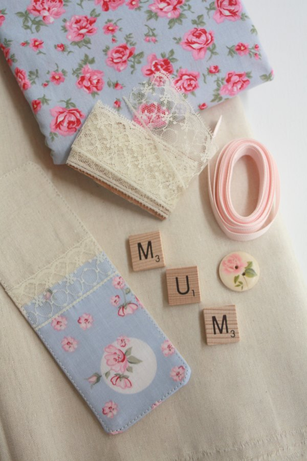 Supplies for your fabric bookmark