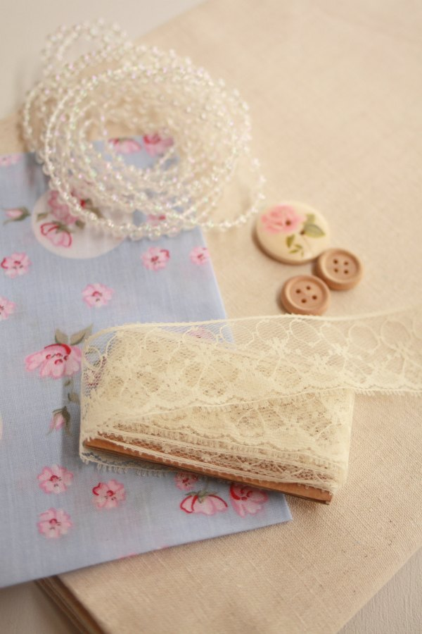 Supplies to create a Fabric Bookmark