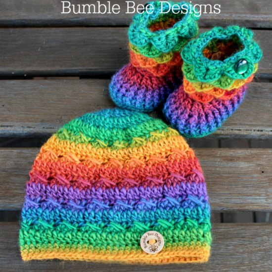 Beanie and Booties Set