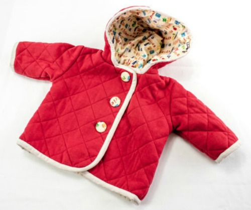 handmade quilted baby jacket