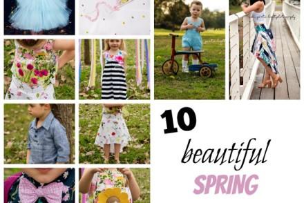 10 Beautiful Spring sewing patterns